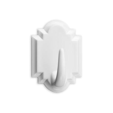 Colgador adhesivo blanco