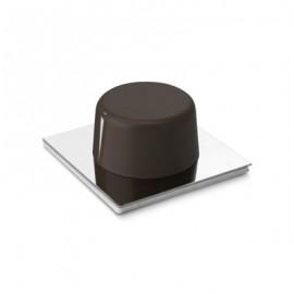 Topall de porta adhesiu marró