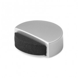 Topall de porta adhesiu silenciós crom mat