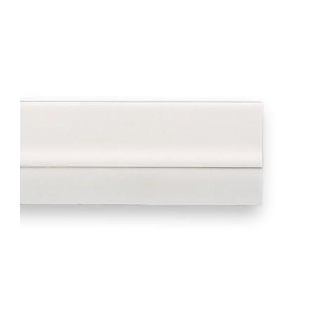 Protector bajo puerta con PVC blanco