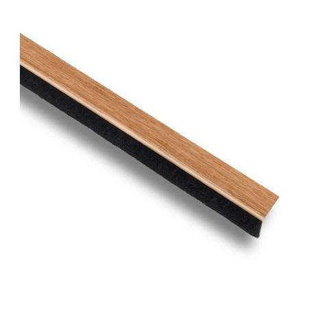 Protector bajo puerta con cepillo madera clara