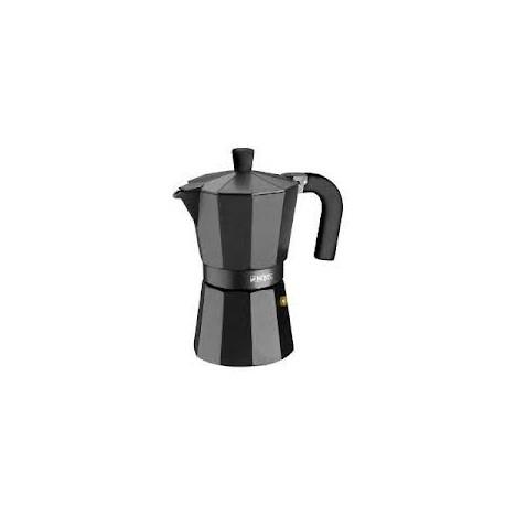 Cafetera Aluminio Monix Vitro Noir 3 Tazas