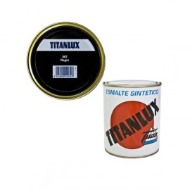Esmalte Sintétic TITANLUX Negro 125ml