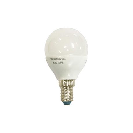 Bombilla LED esférica 4,5W DÍA E-14