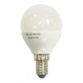 Bombilla LED esférica 5W Calida E-14