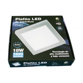 Plafó led empotrable 18W plata