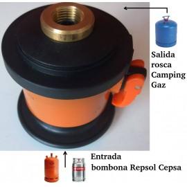 ADAPTADOR DE GAS PARA BOMBONA BUTANO REPSOL-CAMPSA A CAMPING GAZ