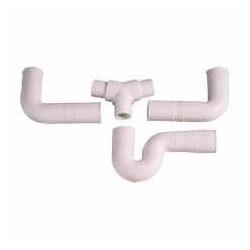 Sifón doble flexible 3 piezas PVC