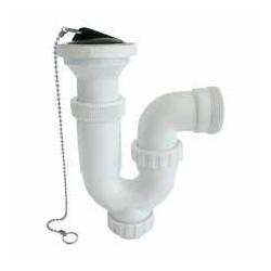 Sifón curvo sifón con válvula PVC