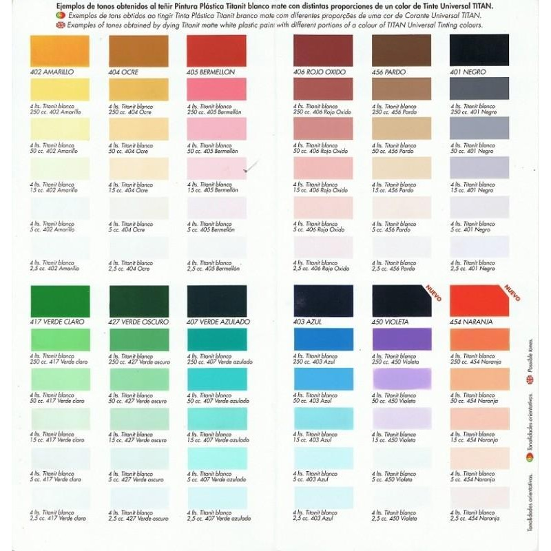 Tinte universal titan ocre for Pintura color ocre